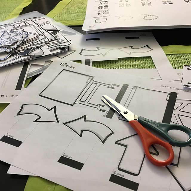 Cutting out stuff for storyboards